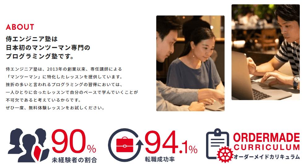侍エンジニア塾の特徴