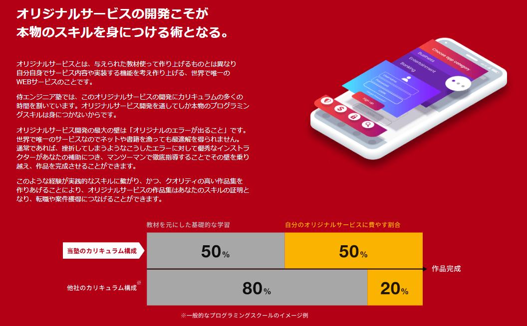 侍エンジニア塾のおすすめポイント②オリジナルアプリの開発