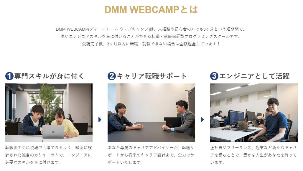 DMM WebCapmの評判や特徴を徹底解説!しっかりとしたスキルを学びたいならおすすめ!